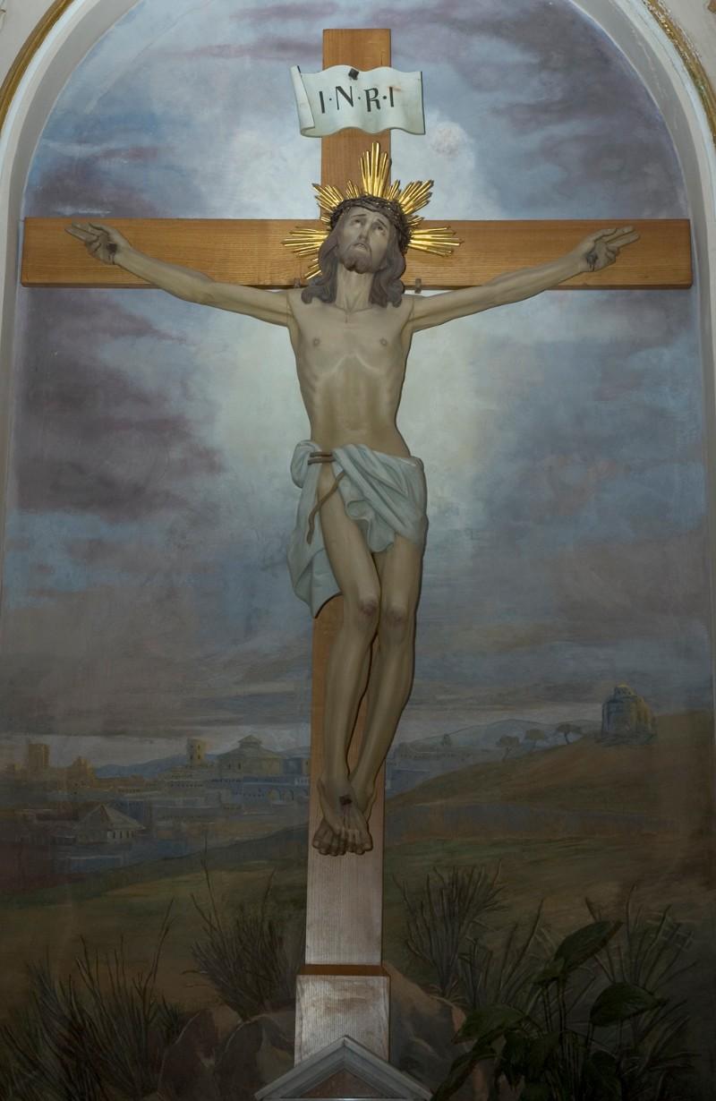 Ambito di Ortisei sec. XX, Crocifisso ligneo