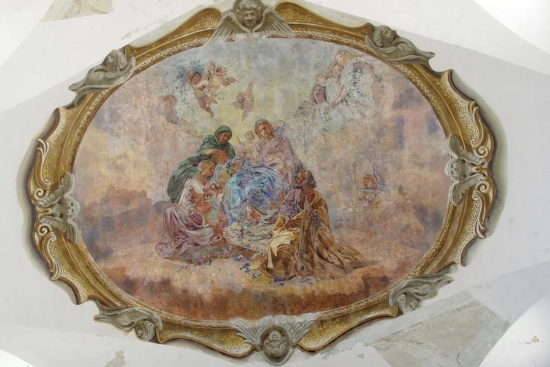 Agesilao F. sec. XX, Sacra famiglia con S. Giovannino e S. Elisabetta