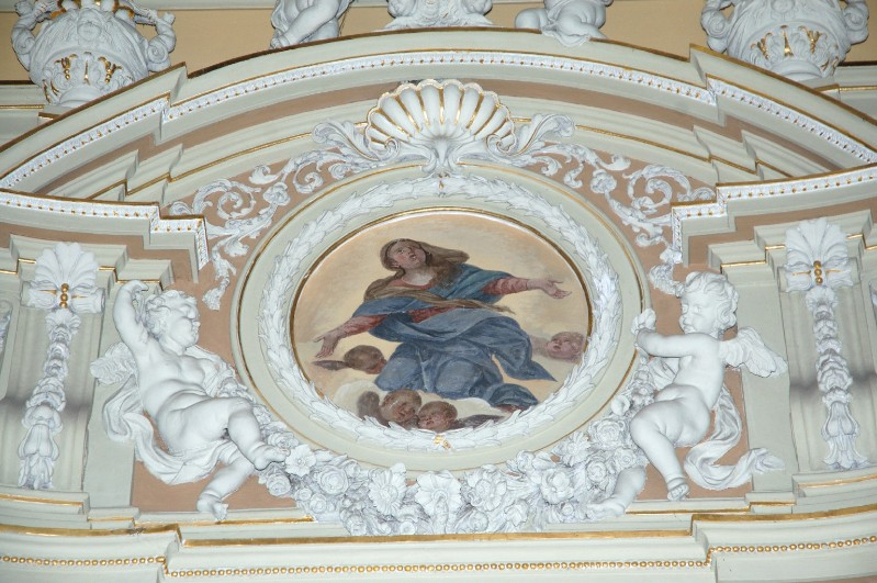 Alerii A. sec. XVII, Dipinto con Madonna assunta