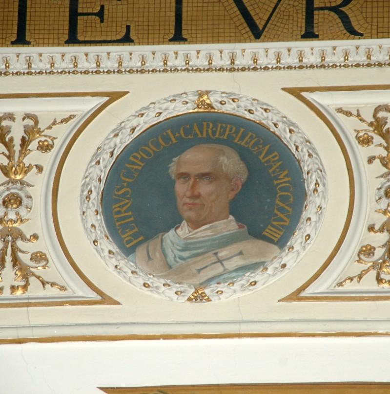 Galimberti S. sec. XX, Dipinto murale con cardinale Pietro Capocci