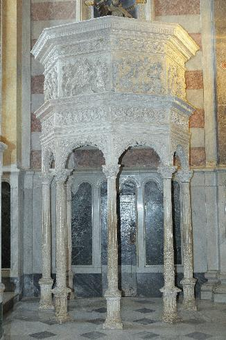 Pulpito - ignoto lapicida pugliese - 1545 ca