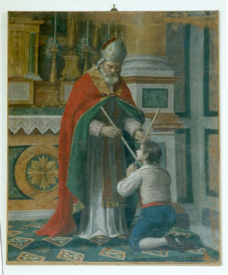 Ambito marchigiano sec. XIX, Miracolo della lisca di San Biagio vescovo