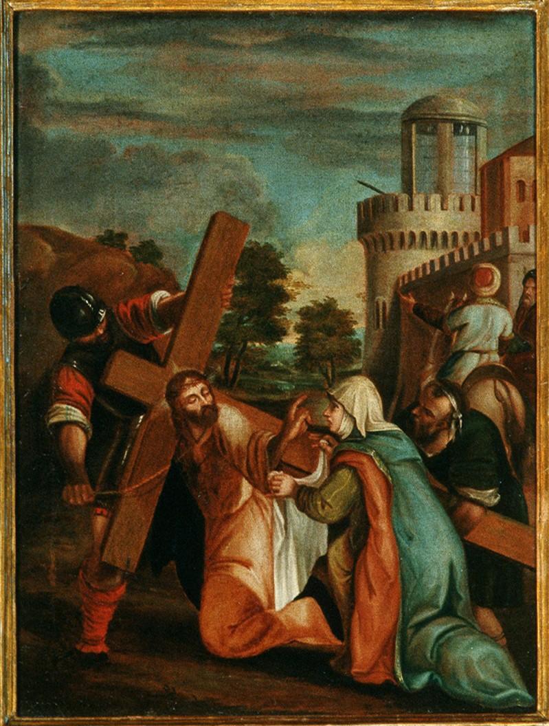 Ambito pesarese sec. XVII, Gesù asciugato da Santa Veronica