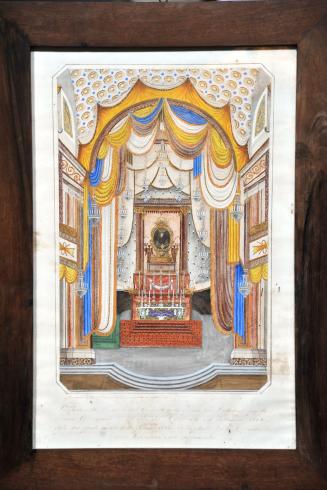Quadro commemorativo (1866) del miracolo dell'Addolorata conservato in sagrestia