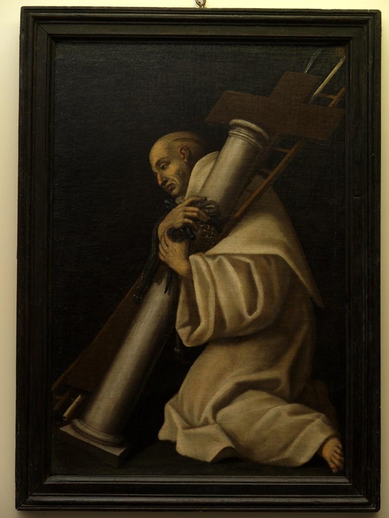 Ambito abruzzese sec. XVII, Dipinto con San Bernardo di Chiaravalle
