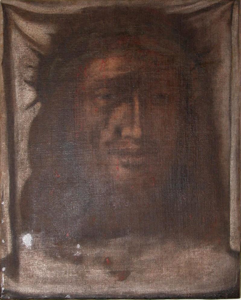 Ambito salentino sec. XVIII, Dipinto del volto di Gesù Cristo