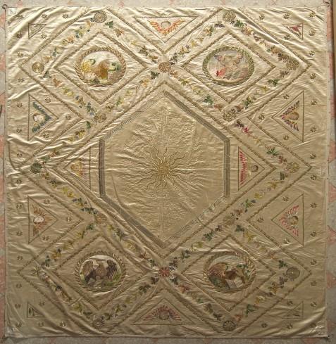 Manif. italiana sec. XIX, Cielo di baldacchino con ostia raggiata