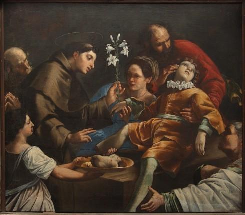 Giarola A. sec. XVII, Sant'Antonio da Padova e il miracolo del piede risanato
