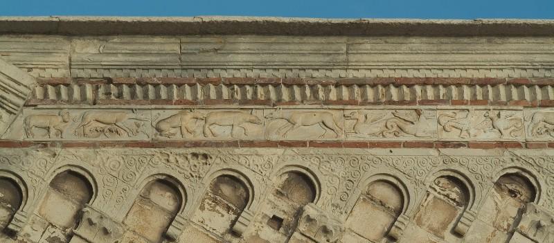 Adamino da San Giorgio sec. XIII, Fregio con animali affrontati