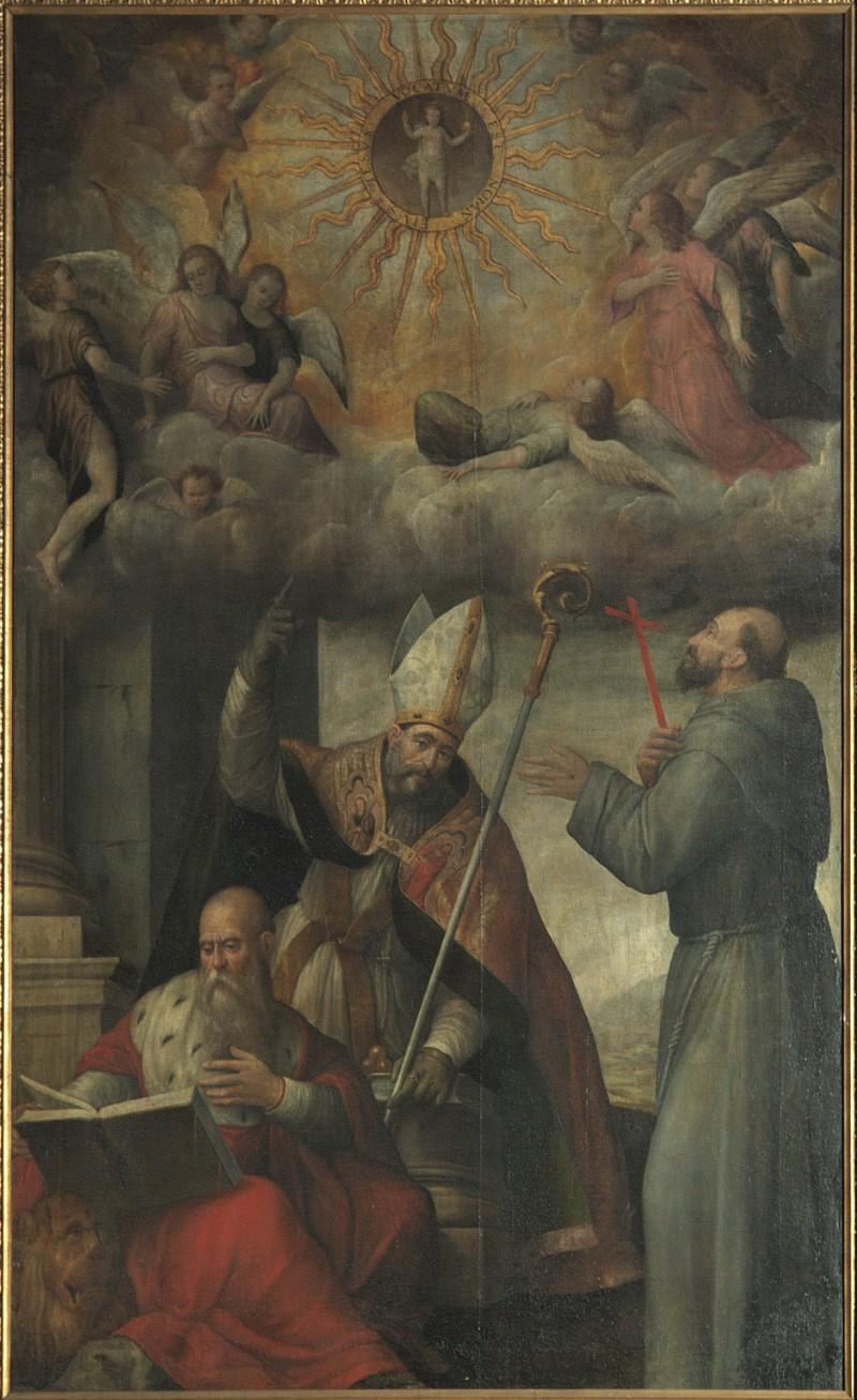 Ligozzi G. E. (1572-1573), Adorazione del Nome di Gesù e santi
