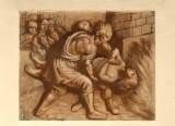 Ambito veneto sec. XIX, San Giorgio gettato nell'olio bollente