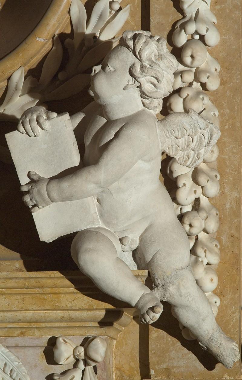 Aglio D. sec. XVII-XVIII, Angelo con libro 2/2
