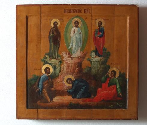 Ambito mediorientale sec. XIX, Trasfigurazione di Gesù Cristo