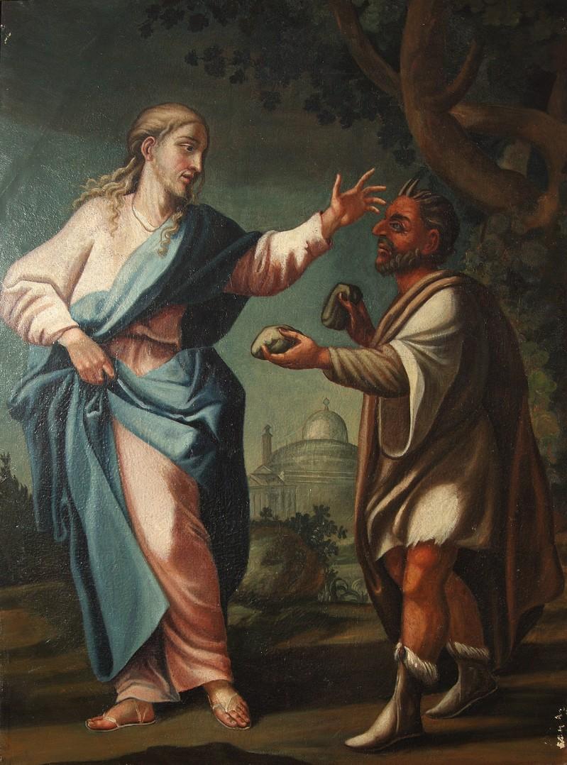 Ambito veronese sec. XVIII-XIX, Gesù Cristo tentato da Satana