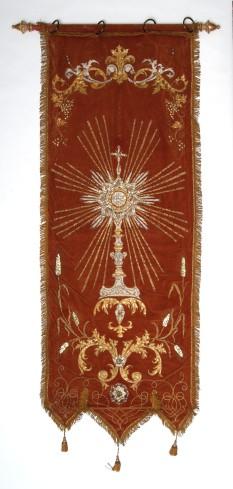 Manif. veronese sec. XIX, Stendardo con ostensorio raggiato