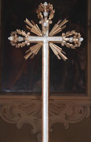 Bott. veneta sec. XVIII-XIX, Croce con terminazioni fogliate