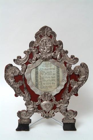 Bott. italiana (1767), Cartagloria con Madonna del rosario cm 34,5 1/2