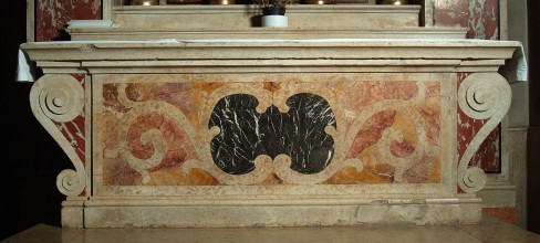 Maestranze veronesi sec. XVII, Paliotto con girali stilizzati simmetrici