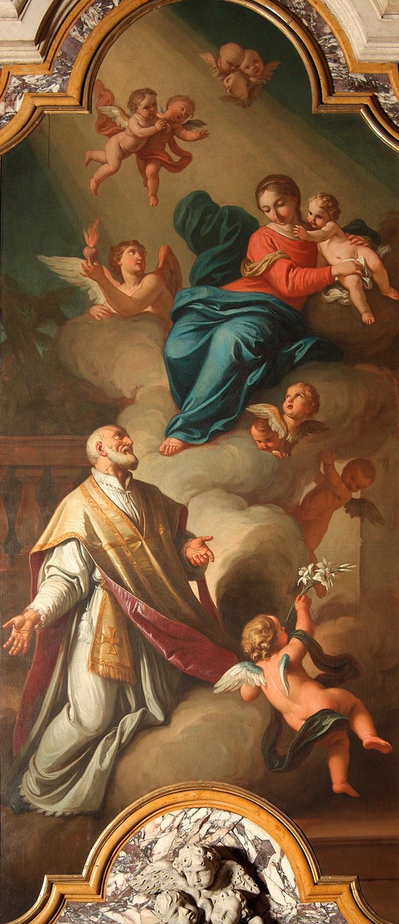 Rotari P. (1738), Madonna con Gesù Bambino e San Filippo Neri