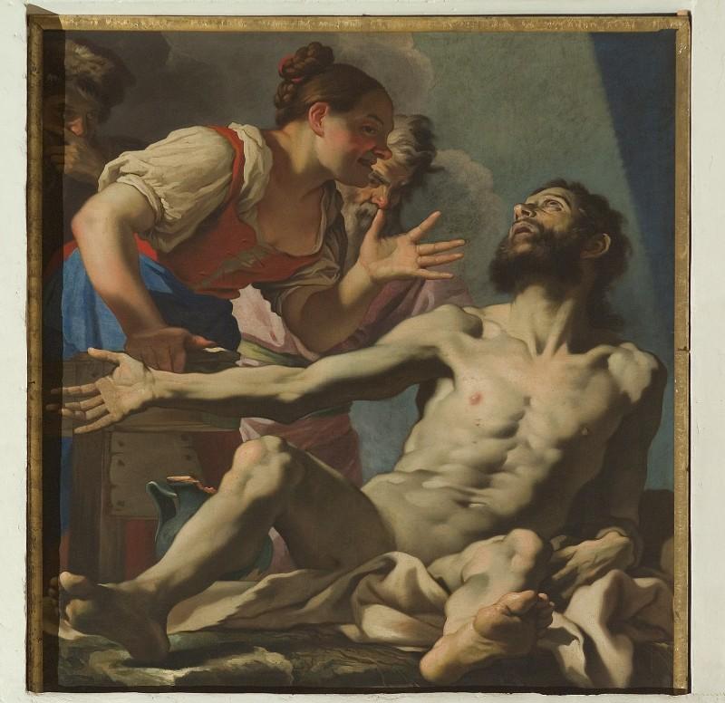 Brentana S. sec. XVII, Giobbe deriso dalla moglie