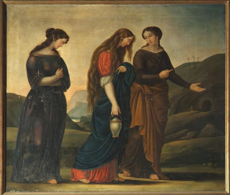 Ambito veneto sec. XIX, Pie donne al sepolcro