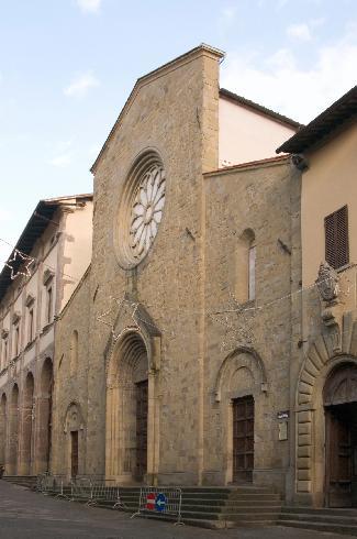 La facciata principale della Chiesa di San Giovanni Evangelista a Sansepolcro