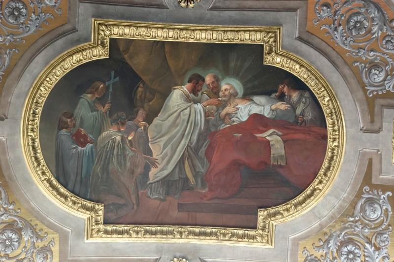 Gallina G. (1857), Sant'Onorato di Vercelli comunica Sant'Ambrogio