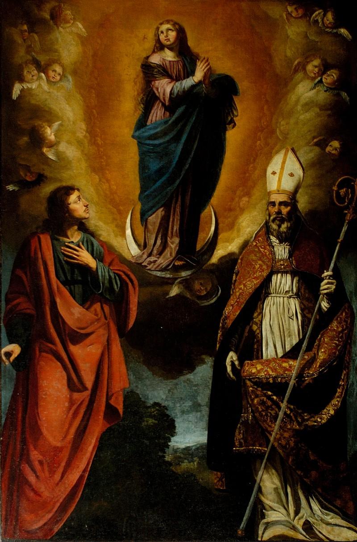 Pucciati A. sec. XVII, Immacolata Concezione e santi
