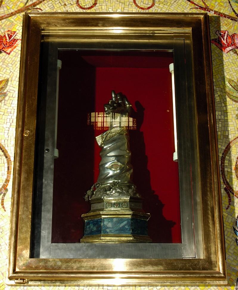 Bottega francese (1491), Reliquiario a braccio di San Bonaventura