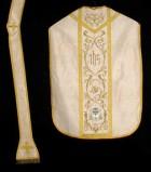 Manifattura italiana sec. XX, Pianeta con stemma di Gisleno Veneri