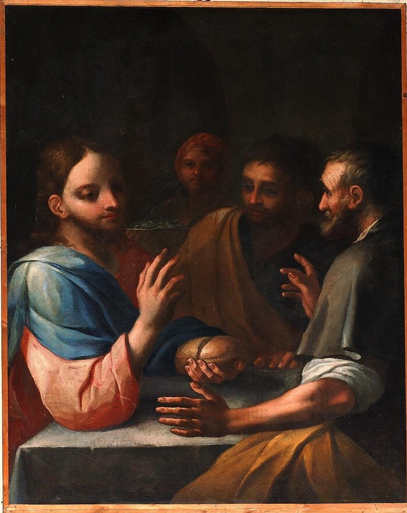 Bottega italiana sec. XVII, La Cena in Emmaus