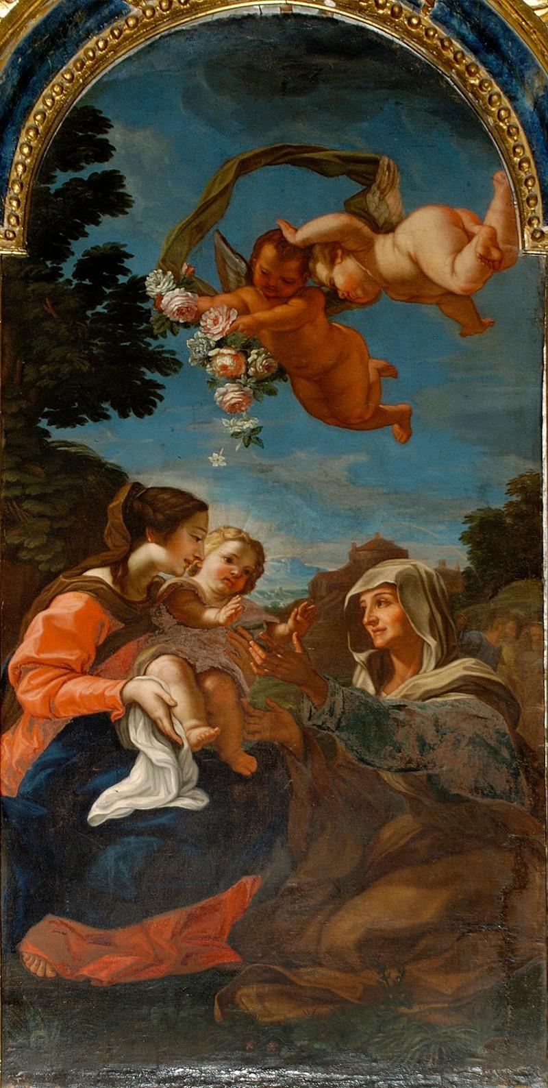 Pacifici P. sec. XVII, Madonna con Gesù Bambino e S. Anna