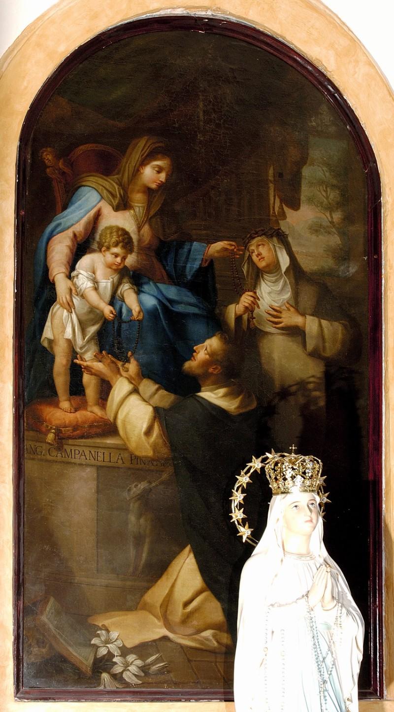 Campanella A. sec. XVIII, Madonna del rosario