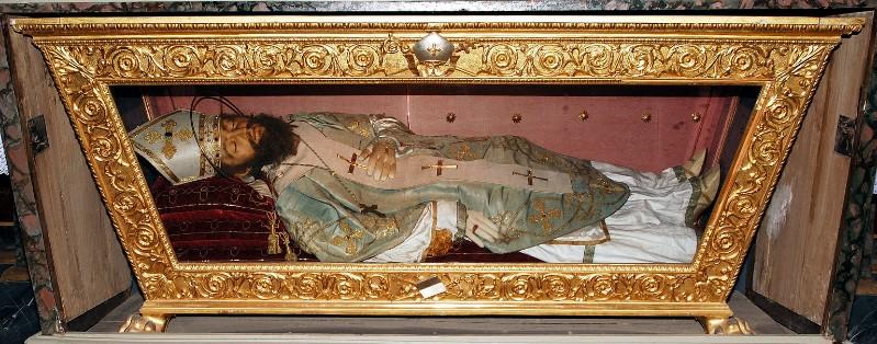 Bottega italiana sec. XVIII, Reliquiario a sarcofago di Sant'Ildebrando