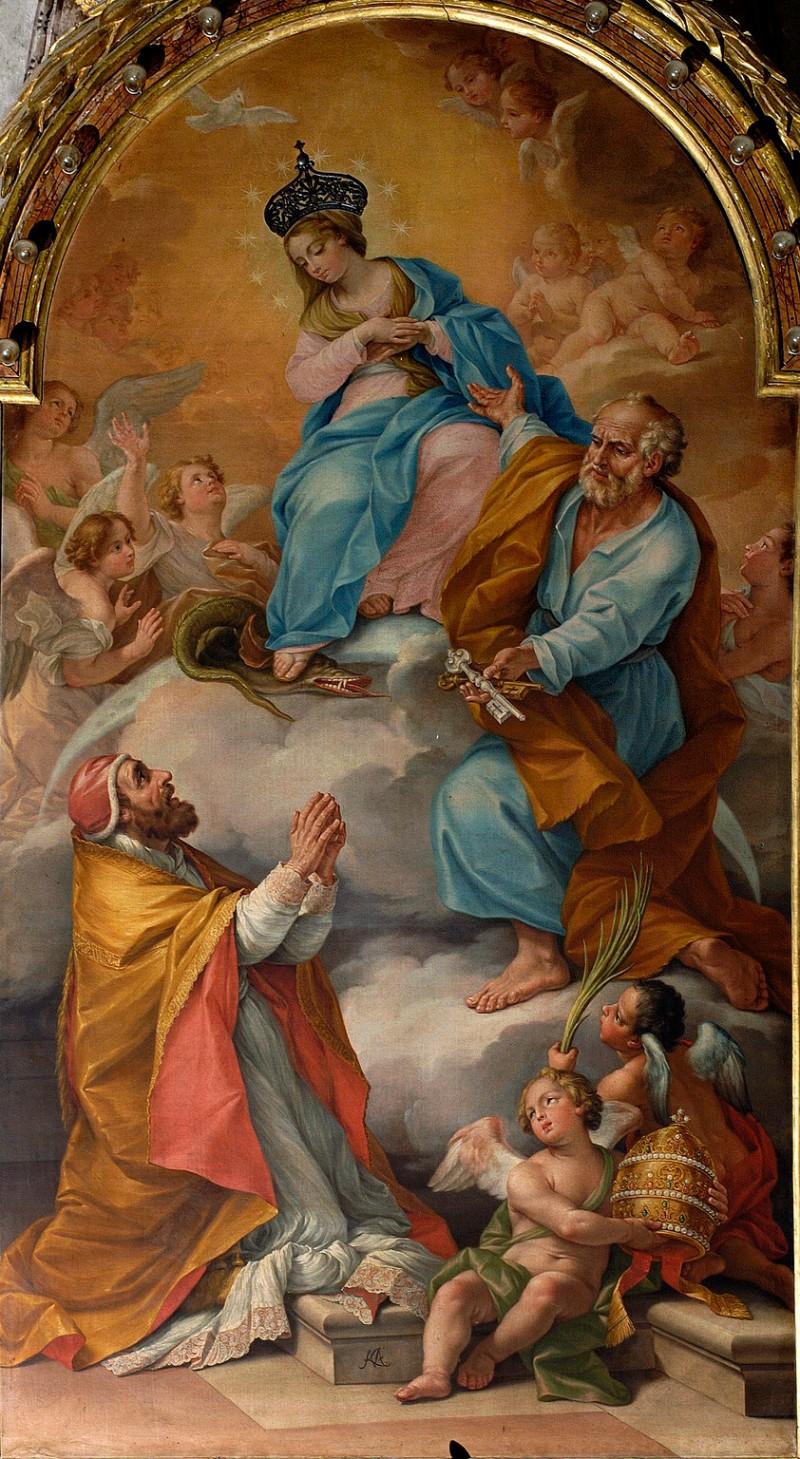 Mazzanti L. (1765), Immacolata Concezione con i santi Pietro e Callisto