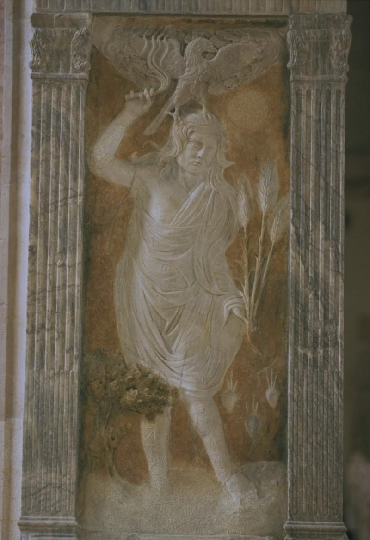 Agostino di Duccio (1454-1457), Bassorilievo con pianeta Giove