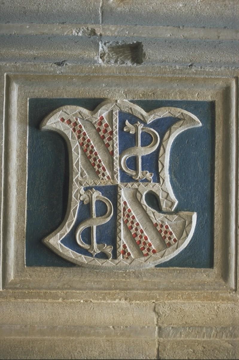 Agostino di Duccio (1454-1457), Scudo inquartato 1/2
