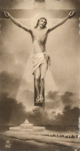 Ambito italiano metà sec. XX, Cristo crocifisso fonte di luce