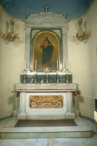 Ambito piemontese sec. XIX, Altare del Sacro Cuore