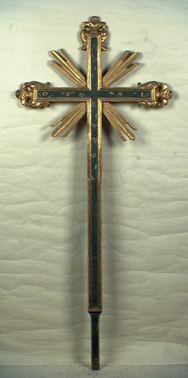 Bottega piemontese sec. XIX, Croce processionale OFSL