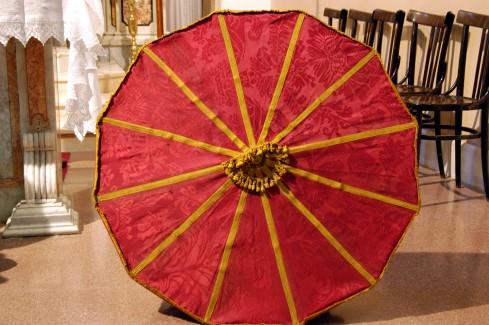 Manifattura cilentana sec. XIX, Ombrello processionale grande
