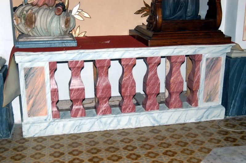 Ambito campano sec. XIX, Balaustra in legno