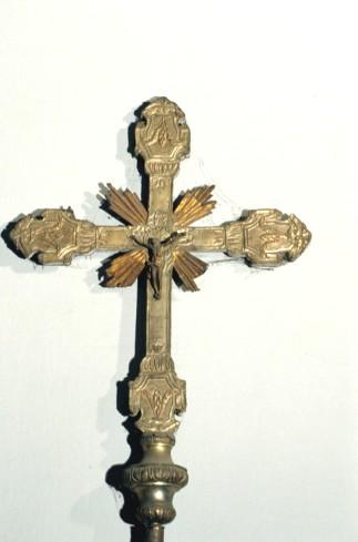 Bottega piemontese sec. XIX, Croce astile