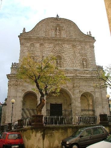 La facciata della cattedrale di San Nicola a Sassari