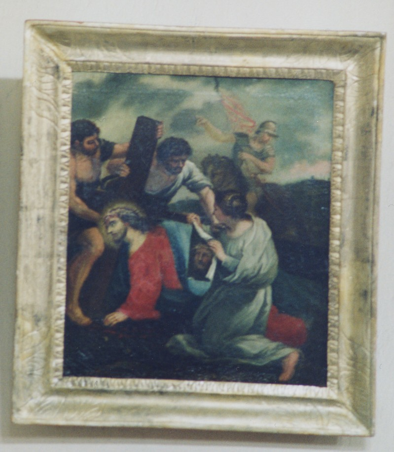 Abbate G. sec. XVIII, Gesù asciugato da Santa Veronica