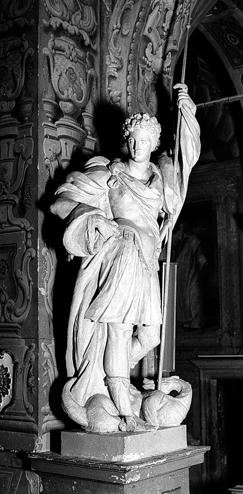 Albenga G. (1600-1605), Scultura con San Giorgio e il drago