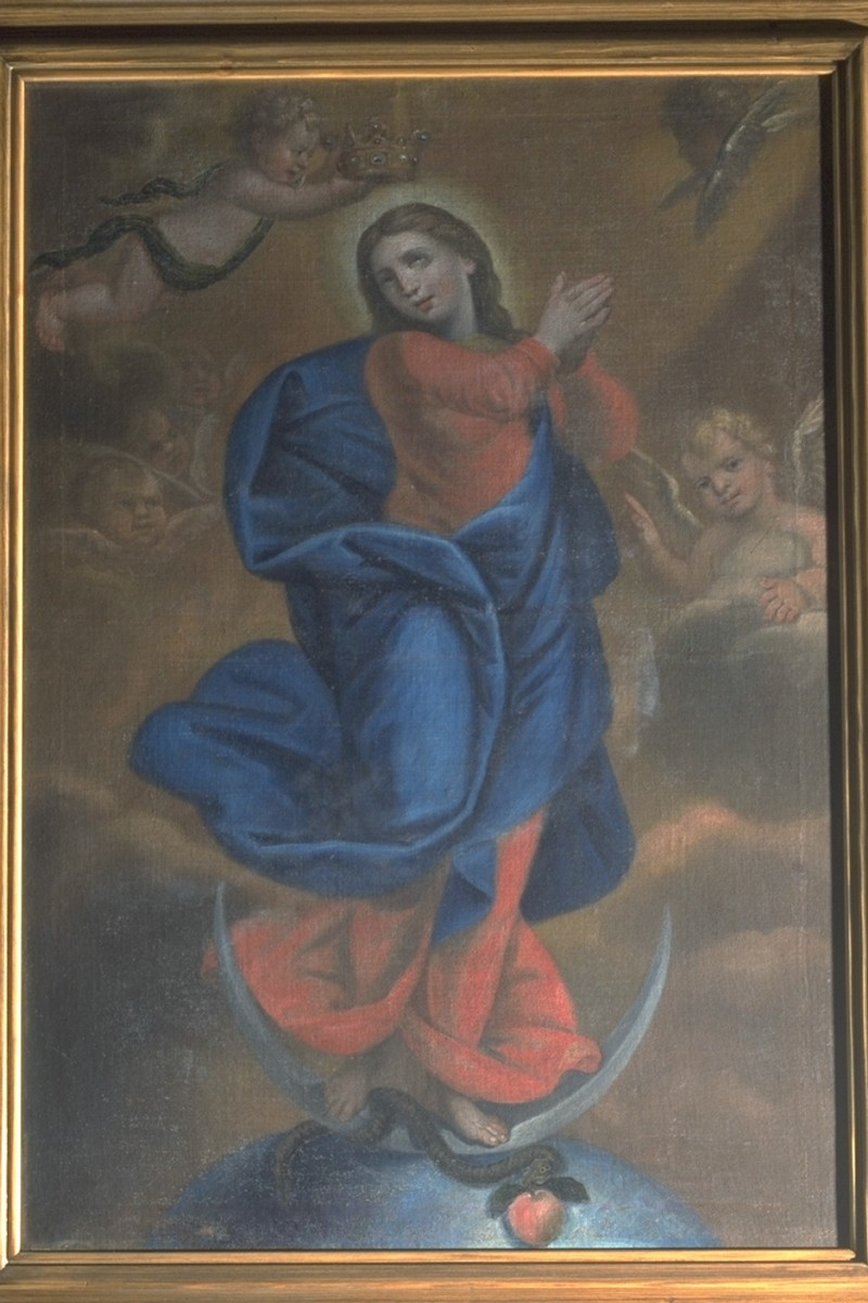 Ambito veneto sec. XIX, Dipinto dell'Incoronazione della Vergine