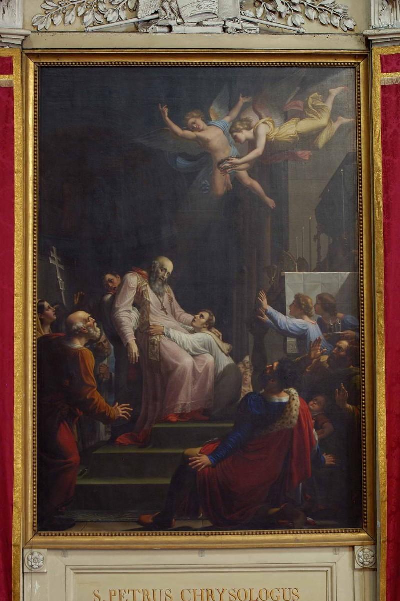 Benvenuti P. sec. XIX, Dipinto San Pier Crisologo moribondo