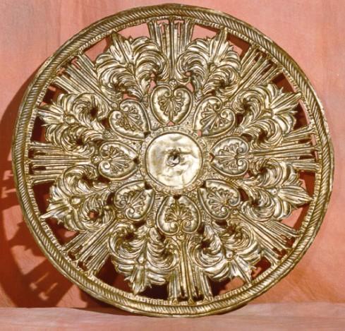 Bott. campana seconda metà sec. XIX, Aureola in argento cesellato