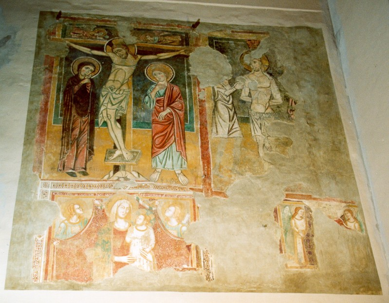 Ambito italiano secc. XIII-XIV, Ciclo di affreschi con Crocifissione